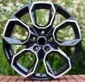 """Alu kola 17"""" na Škoda Kodiaq, 17x7.5 5x112 ET40, R17 černá + leštění"""