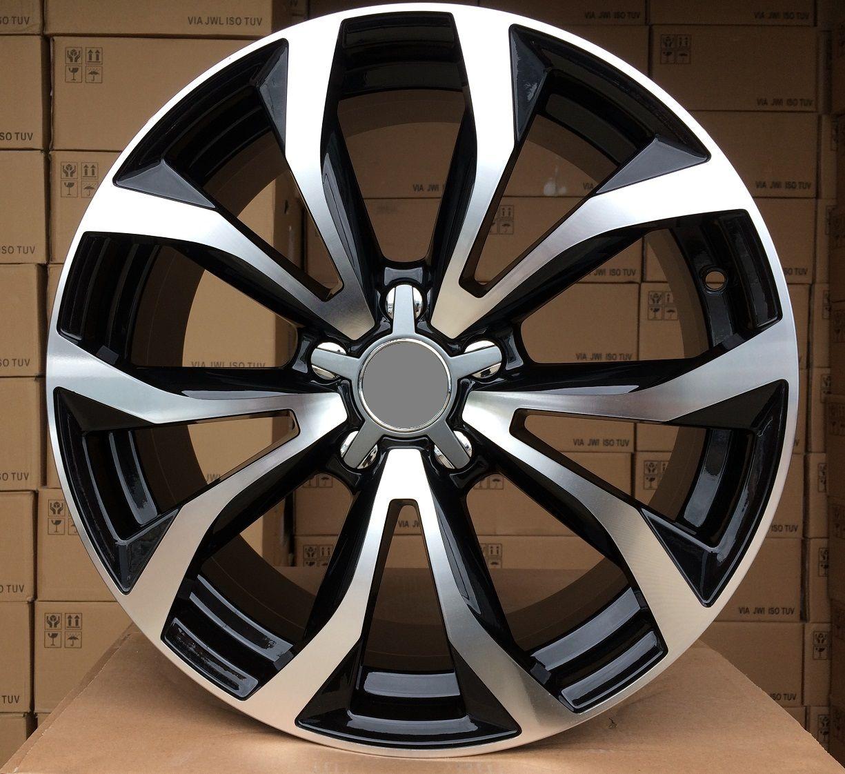 """Alu kola 17"""" na Audi A3, 17x7,5 5x112 ET43, R17 černá + leštění"""